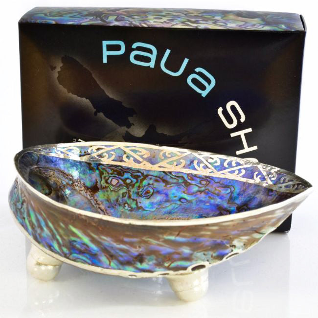 Double Koru Paua Shell Bowl Boxed - Kiwi Collections