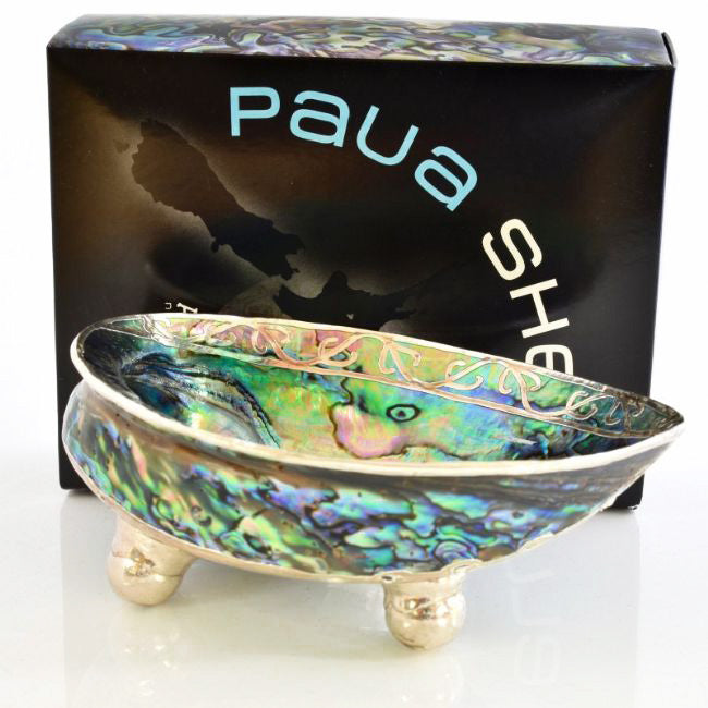 Hook Koru Paua Shell Bowl Boxed - Kiwi Collections