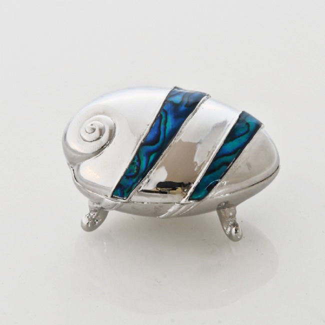 Blue Paua/Paua Shape Pillbox - Kiwi Collections