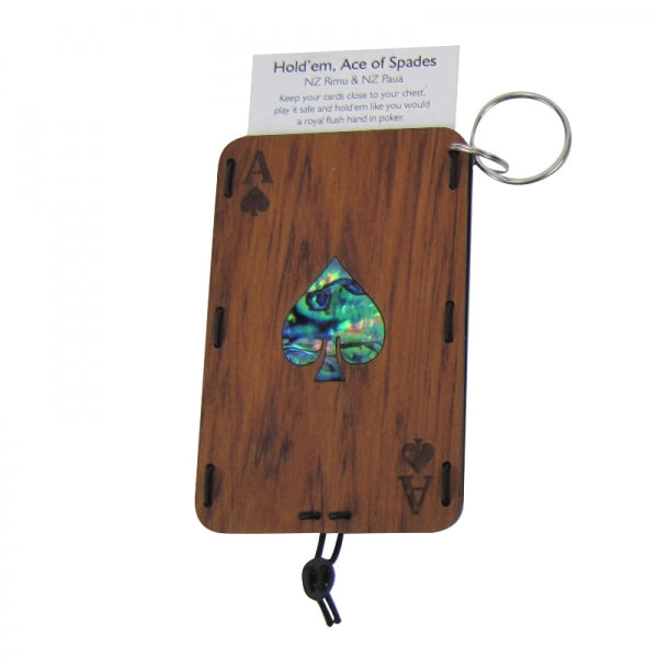 POLYCARD HOLDER KEYRING - RIMU, SPADE - Kiwi Collections