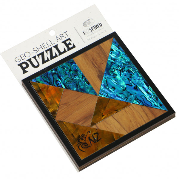 PUZZLE GEO-SHELL ART - AUTUMN - 2 - Kiwi Collections