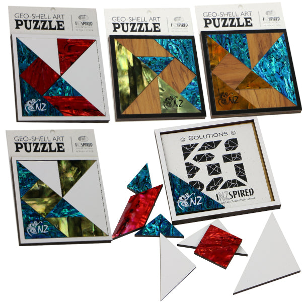 PUZZLE GEO-SHELL ART - AUTUMN - 1 - Kiwi Collections