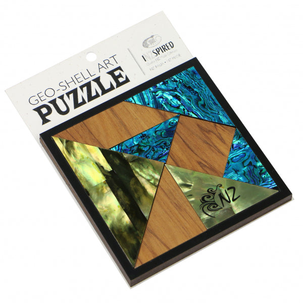 PUZZLE GEO-SHELL ART - SPRING - Kiwi Collections