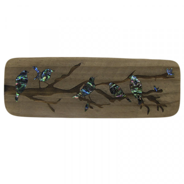 RECYCLEWOOD - PAUA ROBINS IN A TREE - Kiwi Collections