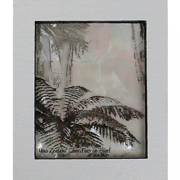 REFLECTIONZ, MOTHER OF PEARL SILVER FERN - Kiwi Collections