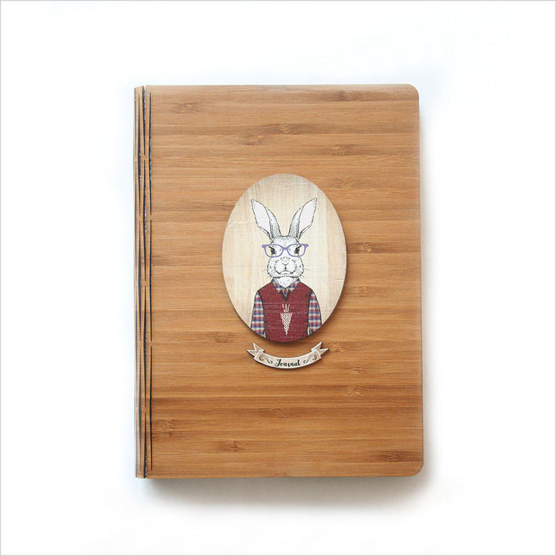 Bamboo Journal : Rabbit (Oval)