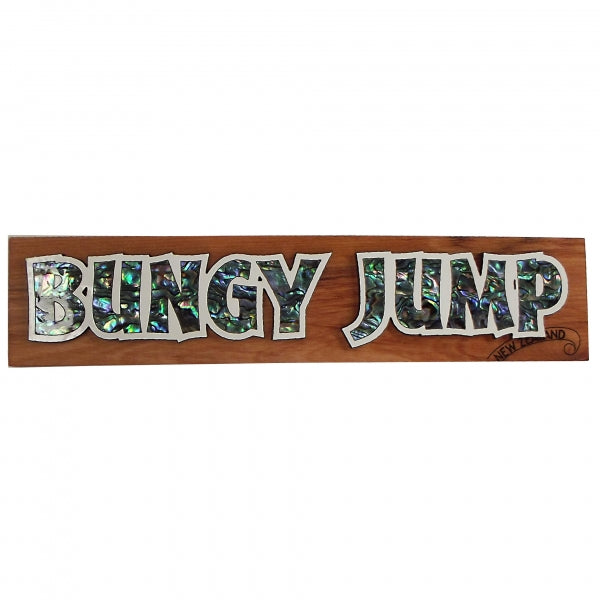 SHELL DECORATIVE SIGN, BUNGY JUMP - Kiwi Collections