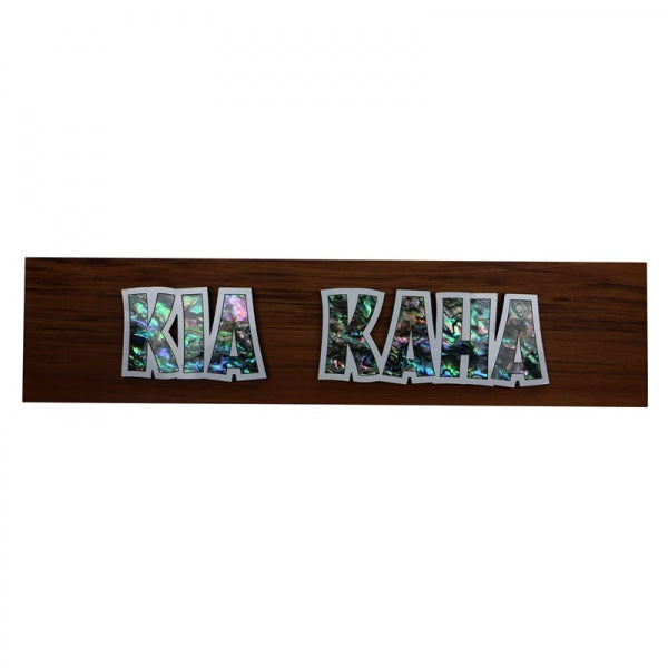 SHELL DECORATIVE SIGN, KIA KAHA - Kiwi Collections