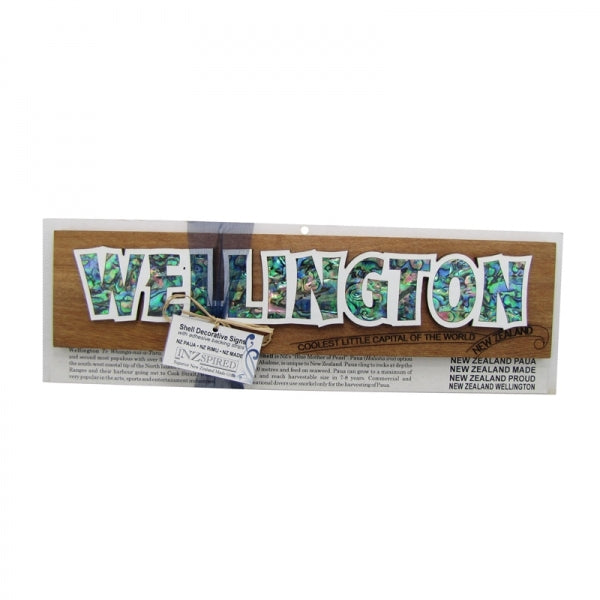 SHELL DECORATIVE SIGN, WELLINGTON - Kiwi Collections