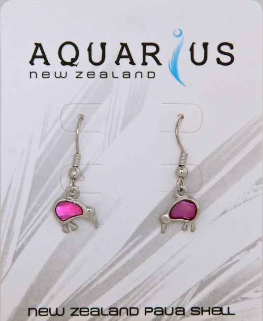 Pink Kiwi Earring On Hook Earring - Kiwi Collections