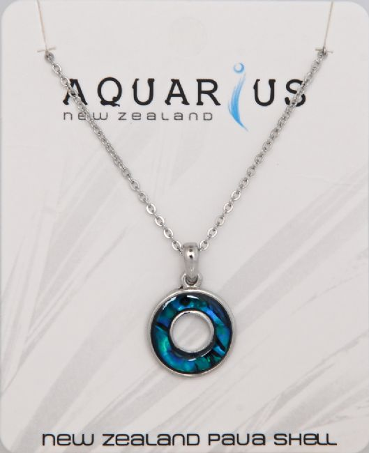 Small Paua Donut Pendant - Kiwi Collections