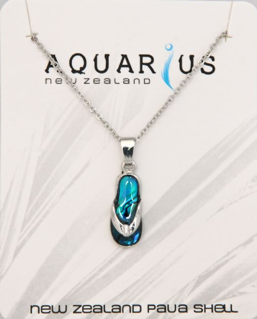 Blue Paua Jandal Pendant - Kiwi Collections