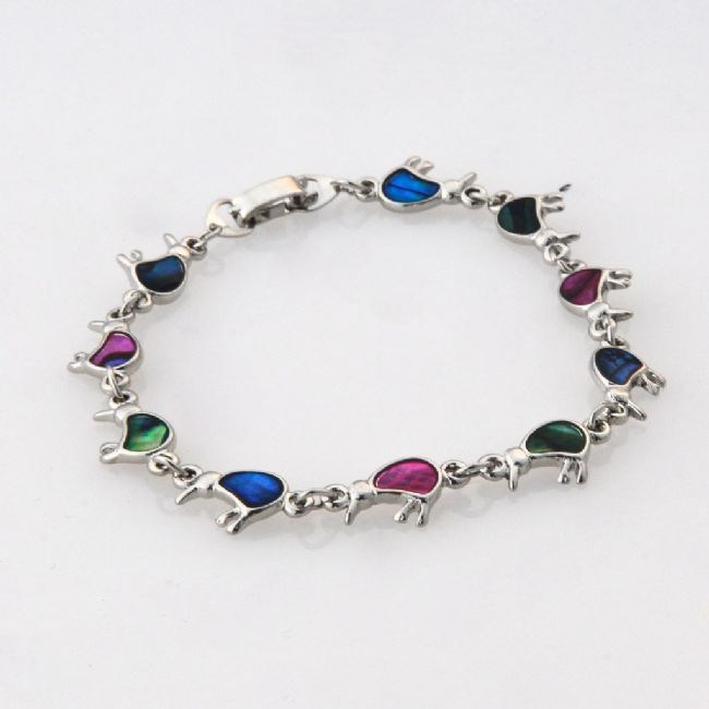 Paua Multi Coloured Kiwi Bracelet - Kiwi Collections