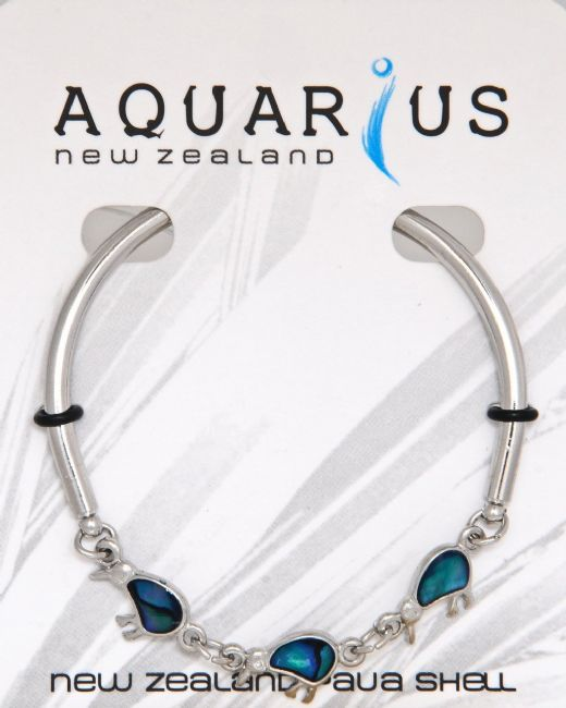 Blue 3 Kiwi Bar Bangle - Kiwi Collections