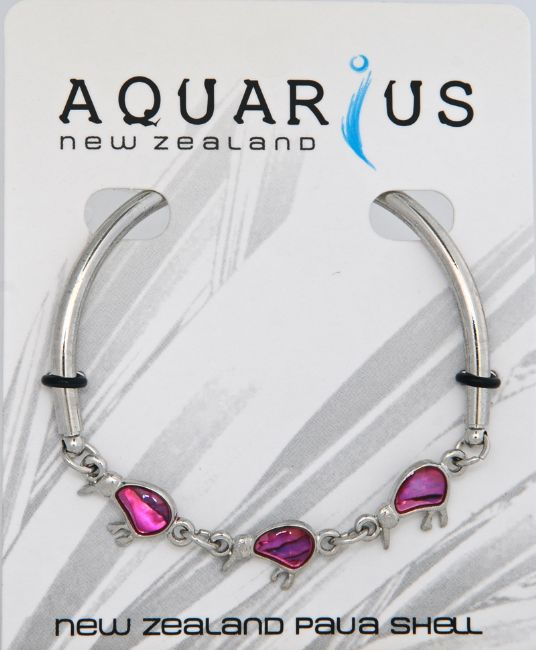 Pink 3 Kiwi Bar Bangle - Kiwi Collections