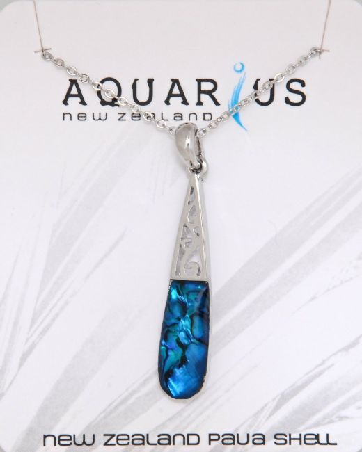 Blue Paua Trellis Teardrop NL - Kiwi Collections