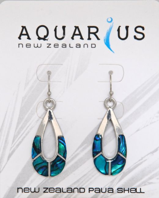 Blue Paua Sectioned Oval Er - Kiwi Collections
