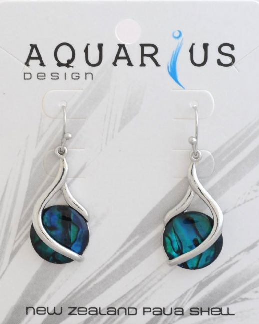 Blue Paua Twist Drop Er - Kiwi Collections