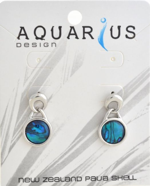 Blue Paua Circle Drop on post Er - Kiwi Collections