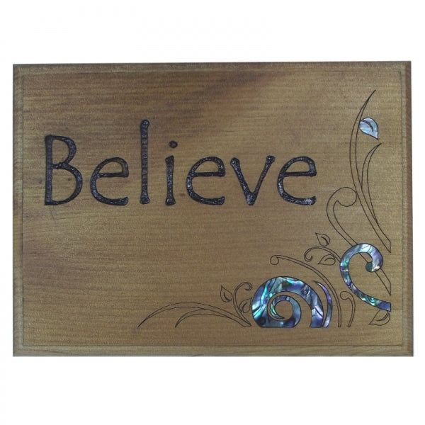 TRIVET/WALL ART - BELIEVE - Kiwi Collections