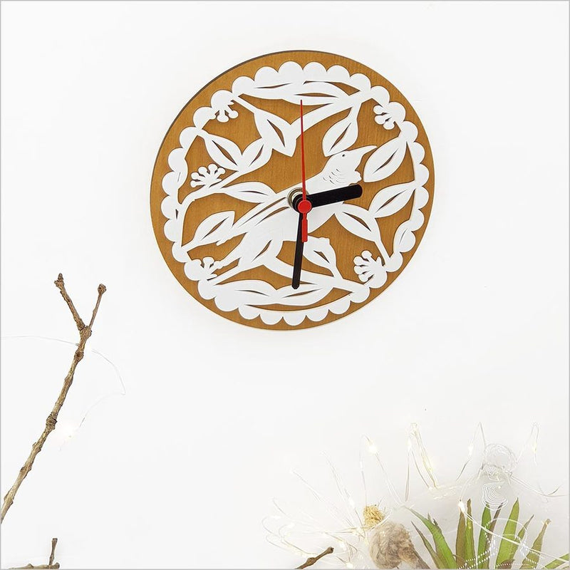 Clock: Tui on PHT White + Silver Beech - Clocks