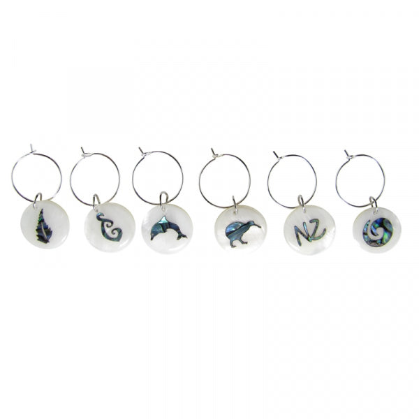 WINE CHARM - PAUA ICONS - Kiwi Collections