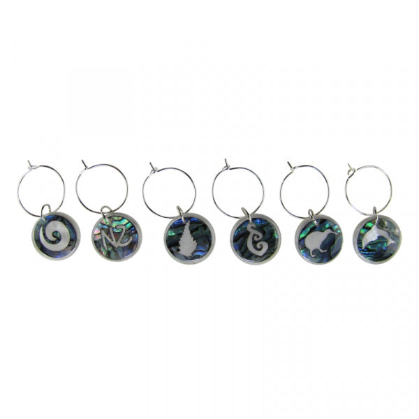 WINE CHARM - PAUA INVERSE ICONS - Kiwi Collections