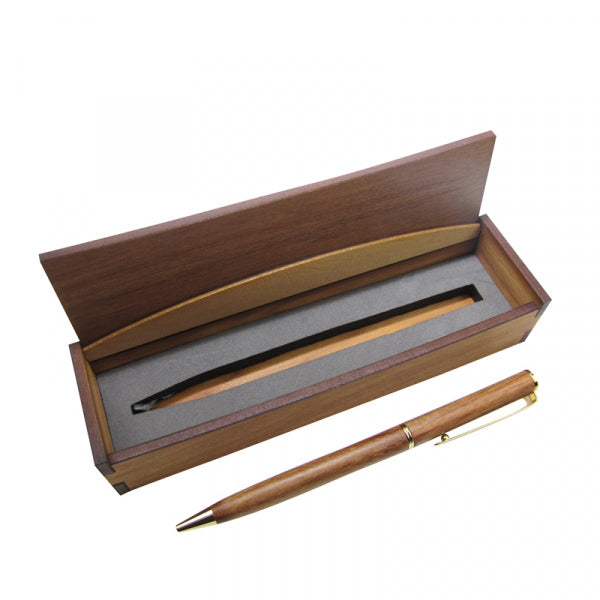 WOODEN PEN RIMU SLENDER SQUARE BOXED - Kiwi Collections
