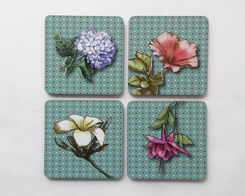 Coasters : Flower - Kiwi Collections