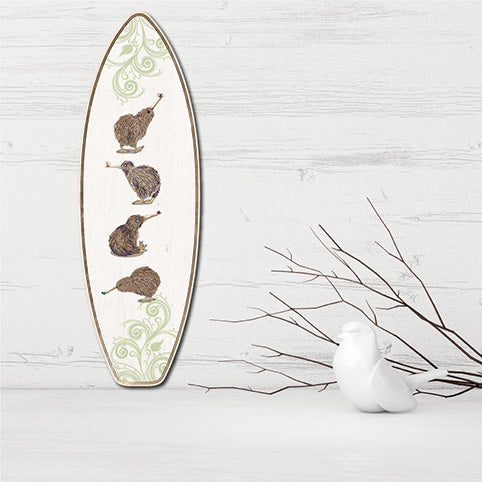 Plywood Surfboard Art: Kiwis - Kiwi Collections