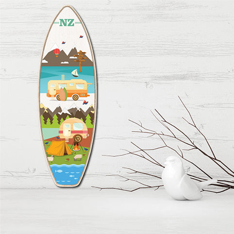 Plywood Surfboard Art: Kiwi Holiday - Kiwi Collections