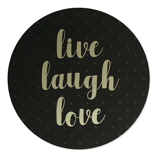 ACM Brushed Circles: Live Laugh Love - Kiwi Collections