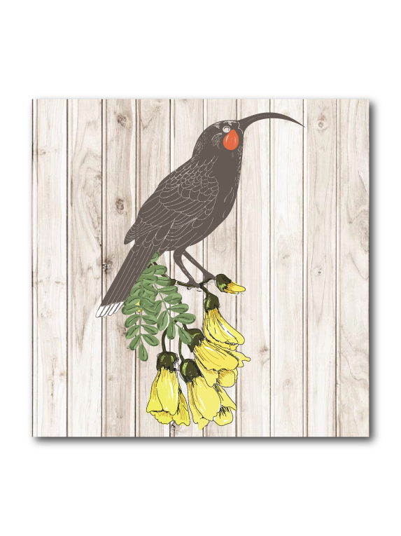 Plywood Art Block : Light wood Huia - Kiwi Collections