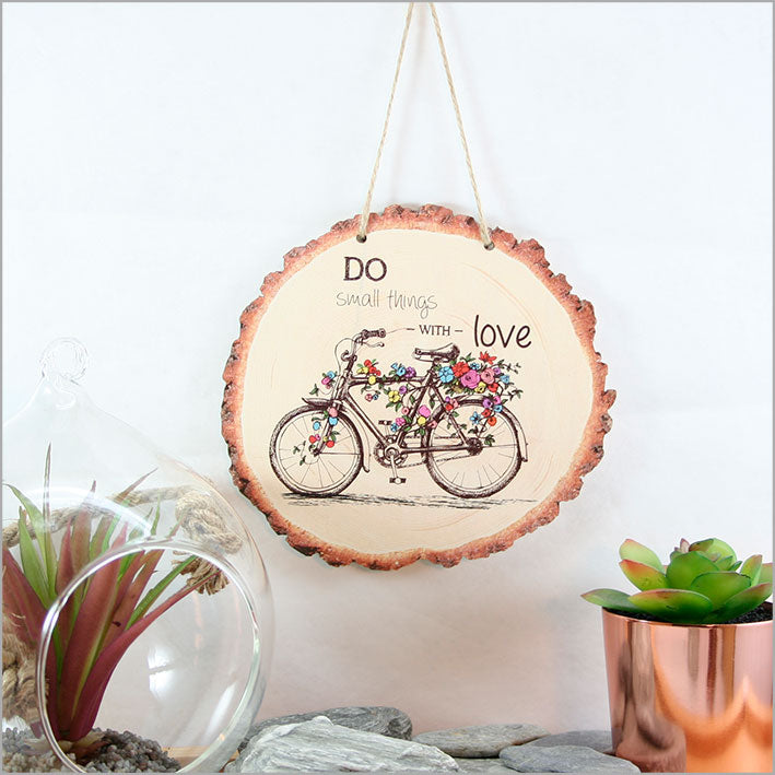 Wood Slice Art: Bicycle - Kiwi Collections