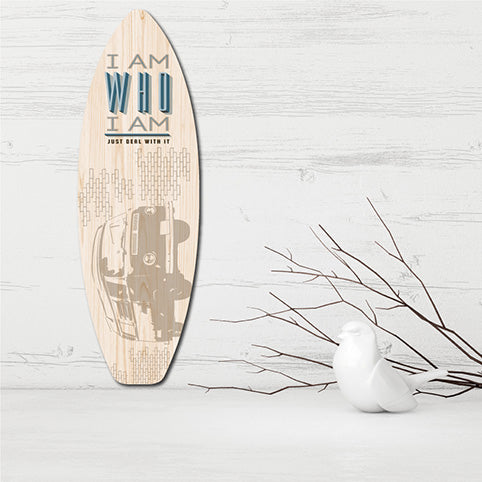 Plywood Surfboard Art: Combi Van - Kiwi Collections