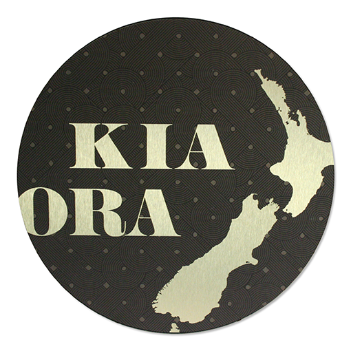 ACM Brushed Circles-Kia Ora - Kiwi Collections