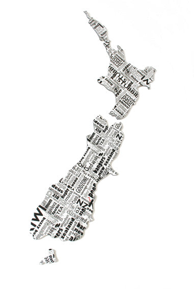 ACM Art NZ Map-Newspaper Design - Kiwi Collections