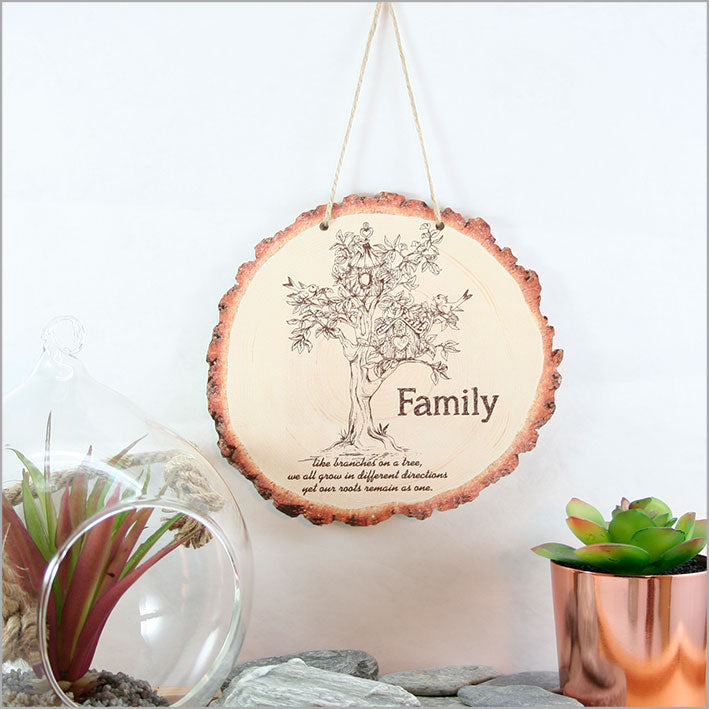 Wood Slice Art: Family Tree - Kiwi Collections