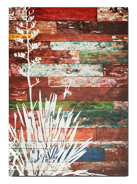 Wood Plank Art Rectangle : Flax - Kiwi Collections