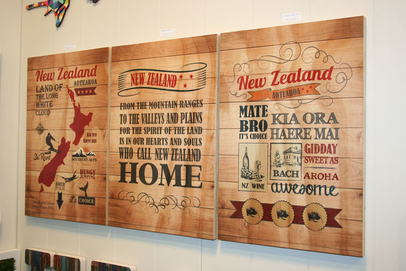 Plywood Art Rectangle : Spirit of NZ - Kiwi Collections