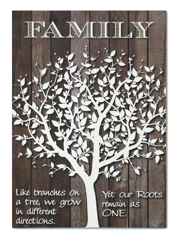Plywood Art Rectangle : Family Tree - Kiwi Collections