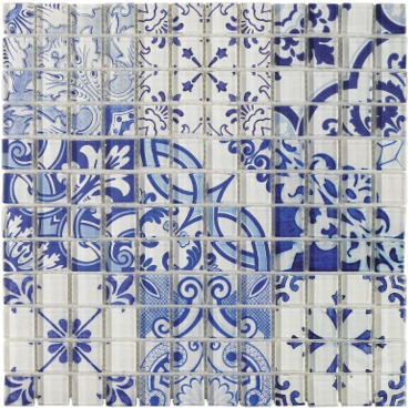Delft Patch 1x1 Glass