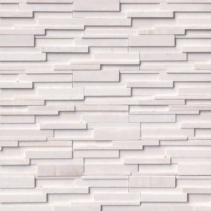 Arctic White 3D Honed Ledger Stone