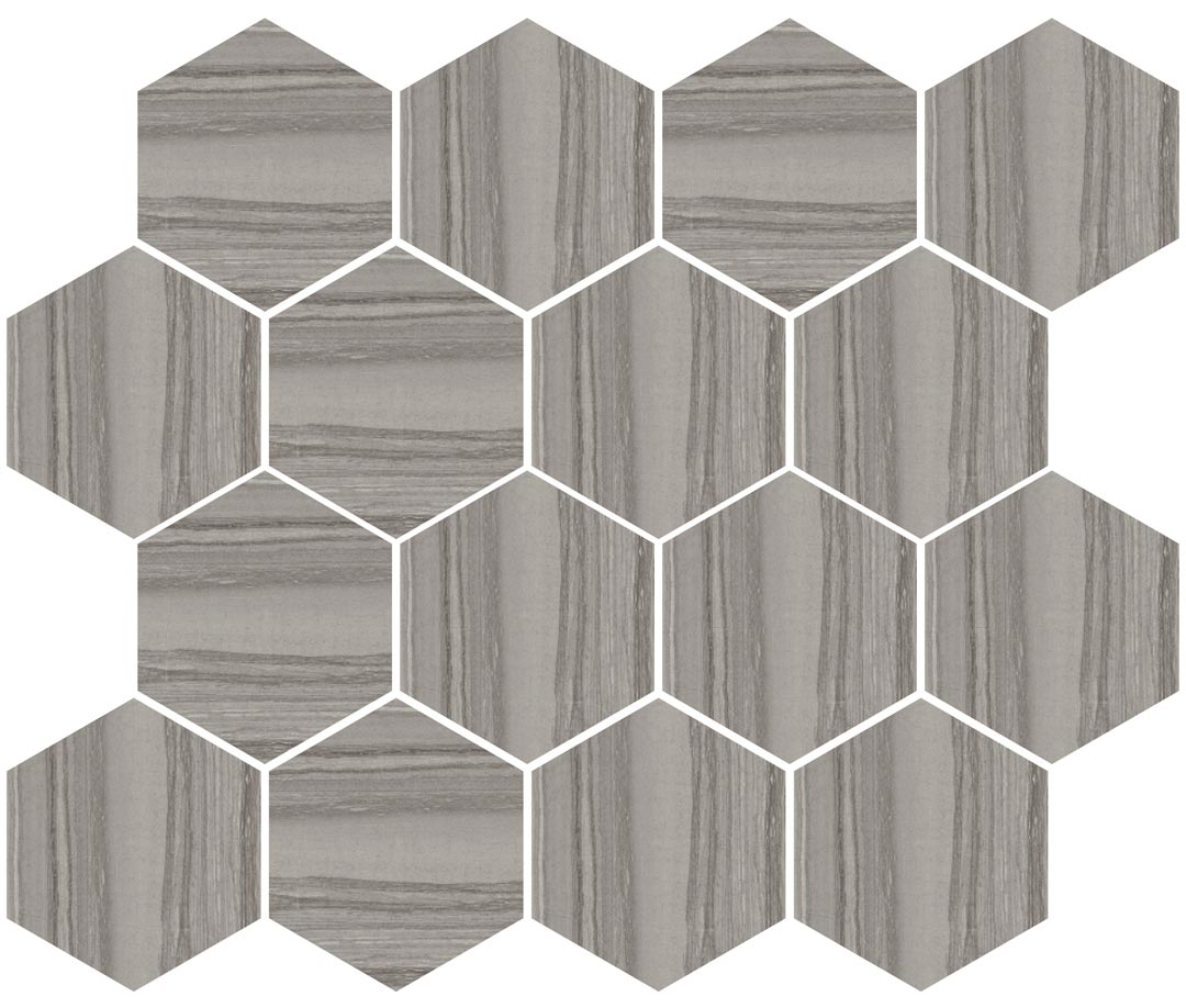 Silver Dark Hexagon Mosaic