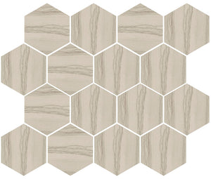Silver Taupe Hexagon Mosaic