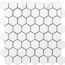 Load image into Gallery viewer, Statuario Hexagon Mosaic