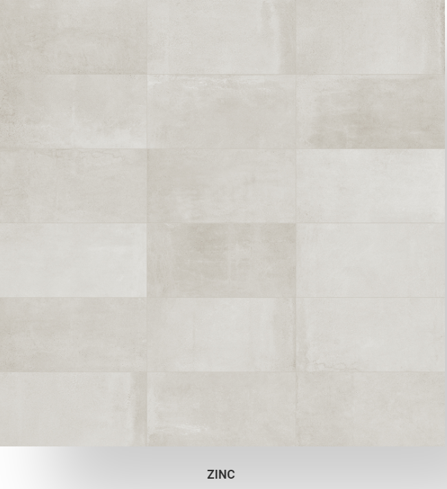 Industria Zinc HD porcelain tile