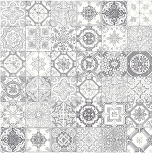 Marrakesh Grey Mix Porcelain 8x8 Matte Pattern (25 peices)