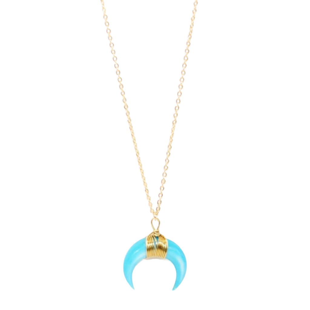 Crescent Moon - Turquoise