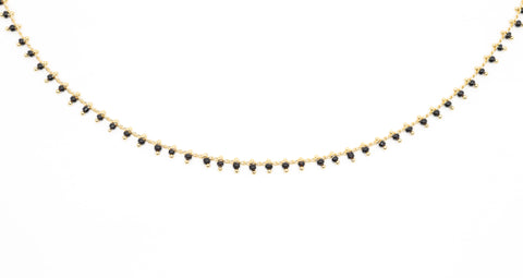 Beaded Choker - Moonstone